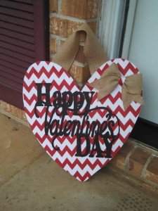 valentines day door hanger